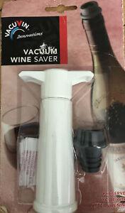 Original VacuVin Wine Saver Pump & Cap White