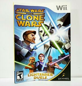 Star Wars The Clone Wars Original Nintendo Wii Sleeve Sleeve Artwork Insert