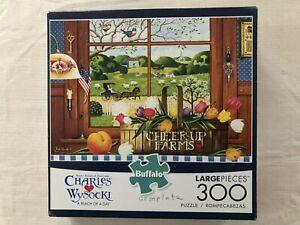 "Charles Wysocki 300 Large Piece Jigsaw Puzzle ""A PEACH OF A DAY"" Buffalo Games"