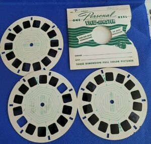Rare Personal Reel Mounts view-master 3 Reels Paris France Attractions Sights
