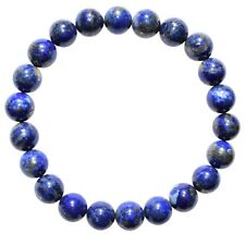 Premium CHARGED Natural Lapis Lazuli Crystal 8mm Bead Bracelet Stretchy