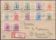 SBZ 1946 Volkssolidarität Nr. 138 - 149 Satz R - Brief