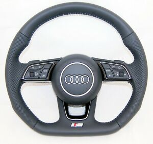 NEW OEM AUDI S LINE A3 S4 A5 S5 A4 Q2 PERFORATED COMPLETE STEERING WHEEL