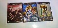 Nintendo Gamecube Video Games Lot of 3 NOT WORKING AS IS FOR PARTS OR REPAIR