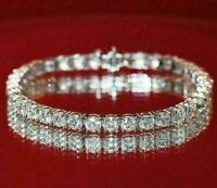 "6.00 Ct Round Cut VVS1 Diamond Tennis Bracelet 7"" Inch 14K White Gold Over"