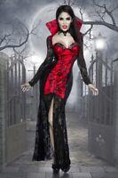 COSTUME HALLOWEEN FEMMINILE VAMPIRO ADERENTE ORIGINALE ABITO LUNGO UY 13569 B
