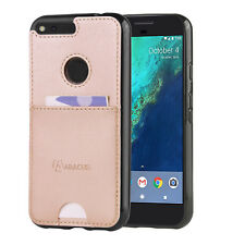 Slim Fit Case for Google Pixel XL Phone Case Back Cover w/Card Pocket -Rose Gold