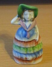 """Occupied Japan lady with hat southern belle bell collectible figurine woman 4.5"""""""