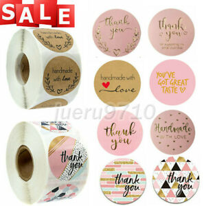 500x Thank You Stickers 25mm For Your Order Labels Business Purchase Round Label
