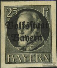 Bayern 122B postfrisch 1920 König Ludwig mit Aufdruck