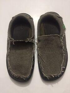 Men's Sz 7 Sanuk Slip On Shoes Brown