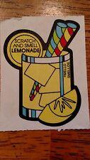 1 VINTAGE 80's  Mello smello  lemonade sniff sticker MOD   Yummiest scent left