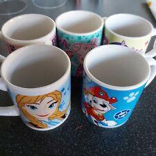 Kinnerton Kids Ceramic Mug Mix Pony Peppa Pig Paw Patrol Elsa Bundle