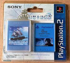 PS2 Suikoden Iv 8 MB tarjeta de memoria (2004) totalmente nuevo y sellado de fábrica Sony
