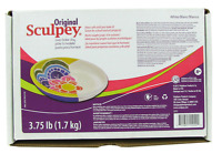 3.75 Pounds ORIGINAL SCULPEY WHITE POLYMER CLAY Oven Bake