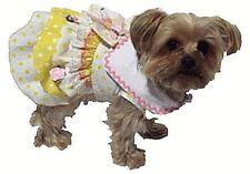 Dog Apparel Clothes Yellow Polka Dot Dress Sizes Xxsmall Xsmall Small