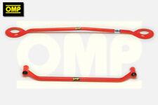 OMP UPPER & LOWER RED STRUT BRACE PEUGEOT 205 GTi 1.6/1.9