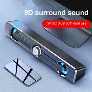 Wired Sound Bar Stereo Speakers USB For TV Computer PC Cellphone Tablets Desktop