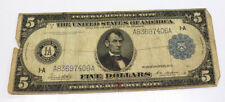 1913 FEDERAL RESERVE NOTE LARGE NOTE $5 - BLUE SEAL BOSTON