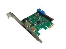 PCIE USB 3.0  (USB3 SUPERSPEED) - 2 + 2 PORTS  / CHIPSET NEC - Connecteur 19 pin