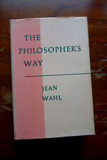 Jean Wahl: The Philosopher's Way first edition 1948