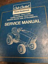 cub cadet service manual Garden Tractor Super Garden Tractor Decks & Attachments