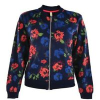 Adidas Neo Floral Baseball Jacket Blue Size Small rrp £45 DH093 DD 09