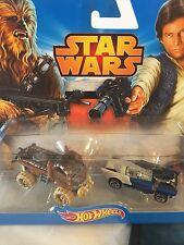 Mattel Hot Wheels Cars Star Wars Chewbacca & Han Solo 2 Pc 2015