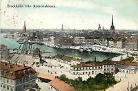Vintage Postcard Stockholm Fran Katarinahissen Sweden