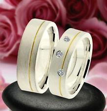 2 Trauring Eheringe Verlobungsringe , GOLD PLATIERT , J238-3