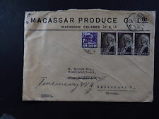 Cover Ned. Indië Dutch Indies Seal Macassar Produce CO.LTD Kobenhavn Denmark