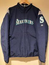 Majestic Womens Size 2XL Seattle Mariners Therma Base Zip Front Jacket