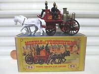 Lesney Matchbox Yesteryear 1963 Y4 SHANDMASON LONDON Fire Engine 2BLKLineLocker