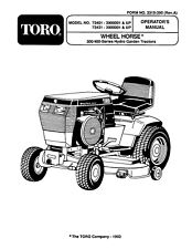 Wheel Horse 300/400 Series Hydro Tractor(416-H / 312-H)