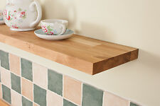 Solid Oak Floating Shelf 1200mm x 200mm x 30mm - Best Quality, Brackets Included