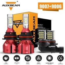 AUXBEAM 9007 LED Headlight+9006 Fog Light For Dodge Ram 1500 2500 3500 2002-2005