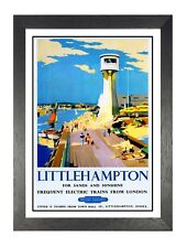 Littlehampton (2) British Railway Travel Advert Old Vintage Retro Picture Poster