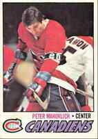 1977-78 O-Pee-Chee Pete Mahovlich Montreal Canadiens #205