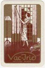 Playing Cards 1 Swap Card - Old Vintage VAC-TRIC Vacuum Cleaner  Lady Hoovering