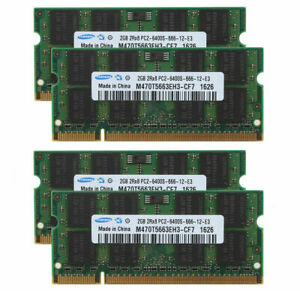 For Samsung 8GB 4x2GB DDR2 Pc2-6400 800mhz SODIMM Laptop Memory RAM