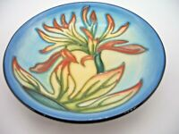 Moorcroft Indian Paintbrush Coaster or Pin Dish by Philip Gibson