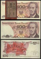 [#20459] - ORIGINALBÜNDEL: 100 x 100 ZLOTY POLEN 1986 UNC! BUNDLE POLAND P 143e