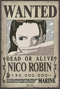 """ABYstyle - ONE PIECE - """"Wanted Robin New"""" Poster (52x35 CM  - NEW"""