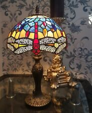 Tiffany Style Handcrafted Glass Table / Bedside Lamp-Medium Size 10 inch shade