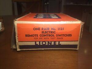 Lionel No 1121 Pair Electric Remote Control O27 Gauge Switch Train Tracks w/ box
