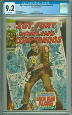 SGT. FURY AND HIS HOWLING COMMANDOS 74 CGC 9.2 WHITE PAGES MARVEL COMICS 1970