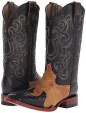 Ferrini Women's Lizard Wingtip Western Boots S Toe #RL2, Black, Size 7B, New