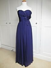Marchesa Notte Purple Silk Chiffon Strapless Long Evening Prom Dress Sz 8 (US4)