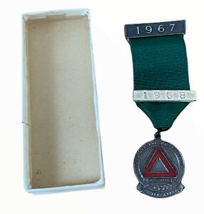 R0SPA, Royal Society for Prevention of Accidents Medal Driving Badge Pin 1968 (g