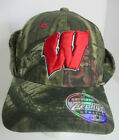 Wisconsin Badgers Hat State Univ Fitted Med Camouflage Ear Flaps NCAA Cap